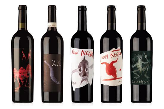 Obras de Barceló en vinos Son Negre.
